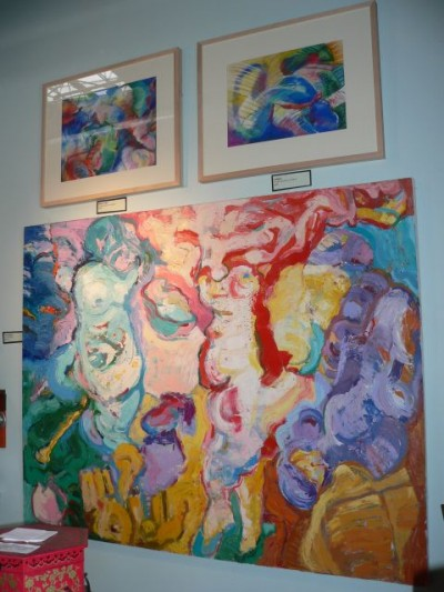(above left to right) 'Blue Scottie', 'THe Snoot', (below) 'Three Figures'