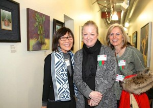 Suzi Wong, Cam Cato, and Karen Adams at the opening reception