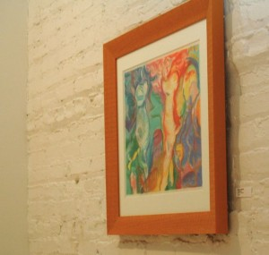 Karen's 'Three Figures', pastel, in display at Studio Clout