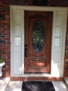 Original door and sidelights