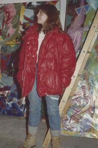 Karen visit's Schlotzhauer's Gallatin Gateway studio in 1981