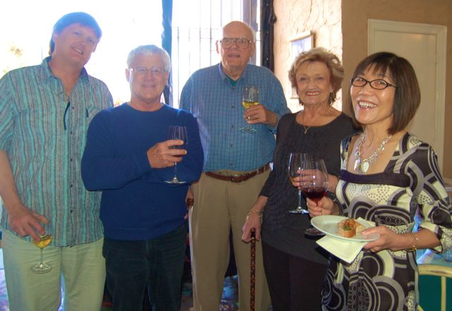 Chris Kehoe, Rick Johnson, Jack Kehow, Marilyn Kehoe, and Suzi Wong at the opening reception.