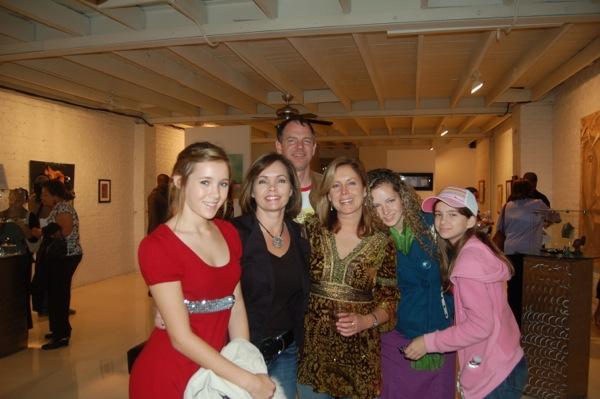 Karen and friends at the opening of Studio Clout, Atlanta Georgia November 2007.