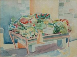'Market Fresh - Cortona, Italy', 1982, Karen Adams