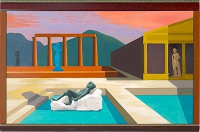 "Under Herculaneum Skies  Everyday Heroes 60"" x 36"" Oil on canvas 2009 $3500 (framed)"